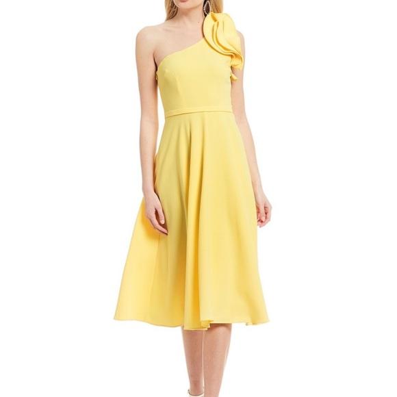 Eliza J Dresses & Skirts - Eliza J one shoulder fit and flare dress NWOT